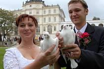 Svatba na ploskovickém zámku.