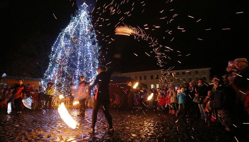 Rozsvícení vánočního stromu v Litoměřicích