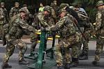 Cvičení Aktivních záloh AČR a IZS u Bechlína