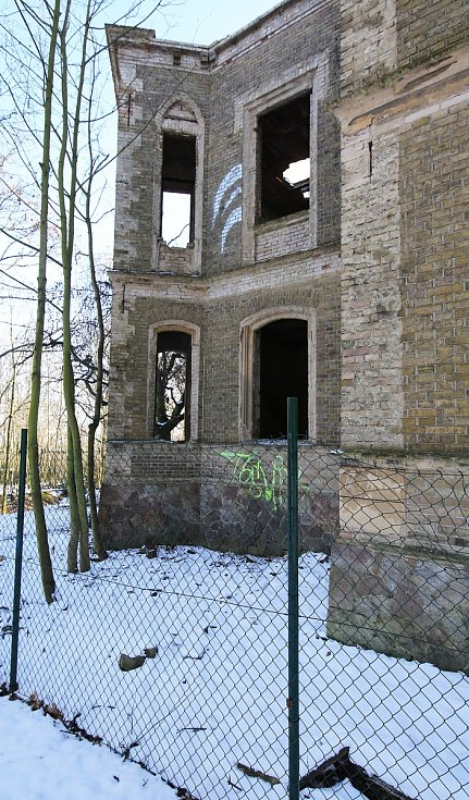 Historická vila Pfaffenhof u Litoměřic.