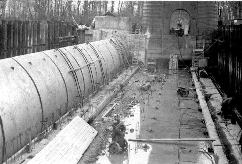 Rekonstrukce jezu 1968 - 1971