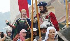 Císař Karel IV. s doprovodem zavítal na úštěcký jarmark i loni.