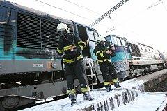 Požár lokomotivy v Bohušovicích