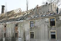 Střecha bývalého roudnického pivovaru.