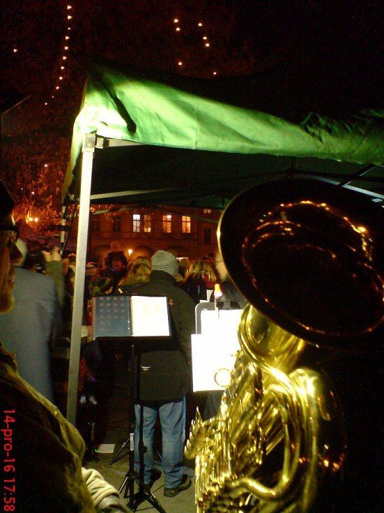 Zpívání koled v Roudnici nad Labem