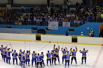 Play-off: Litoměřice - Písek 3:1. Děkovačka po vítězném, postupovém zápase.