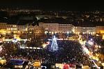 Slavnostní rozsvícení vánočního stromu v Litoměřicích. Archivní foto
