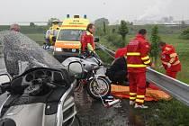 Sobotní nehoda u Lovosic