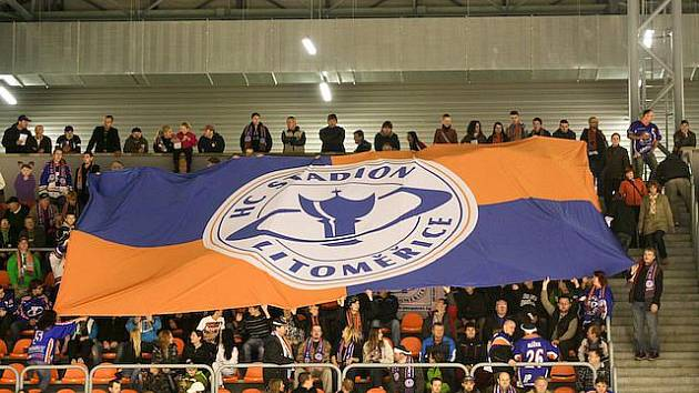 Nová sektorová vlajka fanoušků Stadionu Litoměřice.
