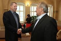 Ministr zemědělství Petr Bendl na návštěvě Litoměřic.