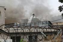 Požár v lovosickém podniku Glanzstoff