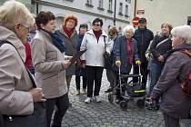 Prohlídka barokních Litoměřic v rámi akce Místa přátelská seniorům.