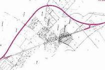 SITUACE plánovaného obchvatu Siřejovic dle  projektu. Přeložka silnice II/247 se musí začít stavět nejpozději za rok.