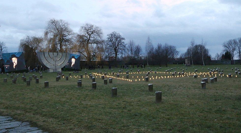 Pietní akce k uctění mezinárodního Dne památky obětí holocaustu v Terezíně