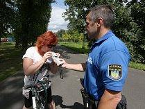 Městská policie Lovosice v akci, ilustrační foto.