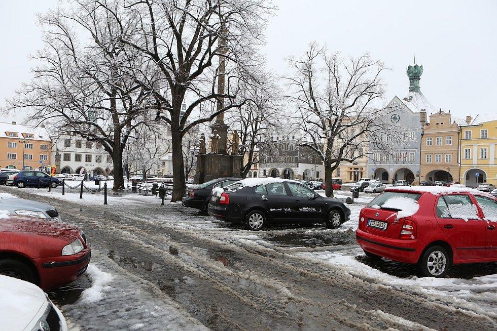 Dopolední sněžení na Litoměřicku - Litoměřice