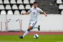 Odchovanec FK Litoměřicko Matěj Náprstek v dresu mládežnické reprezentace.