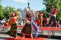 Oblečení značky Nomads na sobě prezentovaly tanečnice z litoměřické taneční a pohybové školy DMC Revolution.