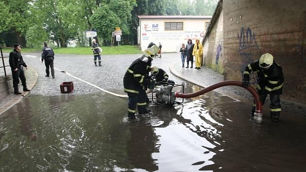Velká voda v Litoměřicích v červnu 2013
