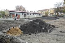 Výstavba sběrného dvora v Lovosicích.