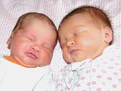 Andree a Vladimírovi Kubíkovým z Trnovan se 20.10. narodila v Litoměřicích dvojčata. Šarlota Kubíková  v 1.53 hodin (48 cm, 3,05 kg) a Elena Kubíková v 1.54 hodin (47 cm, 2,91 kg).