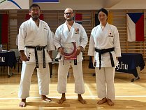 Zleva: Kazuaki Kurihara (Japonsko), Jan Steklý a Mai Shiina (Japonsko)