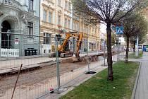Opravy v Sovově ulici, která navazuje na Palachovu.