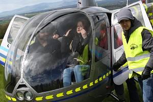Na Řipské pouti se můžete proletět i vrtulníkem. Archivní foto