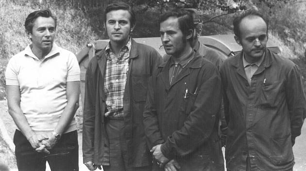 Na slévárně oceli v roce 1973.