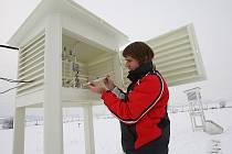 Meteorologická stanice Doksany, pátek 3. prosince 2010.