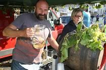 PAVEL HRABKOVSKÝ starší na  litoměřickém vinobraní, kde jeho vinařství několikrát získalo cenu od návštěvníků za nejlepší burčák.