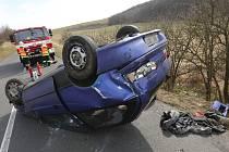Nehoda na silnici mezi Řepnicí a Kamýkem