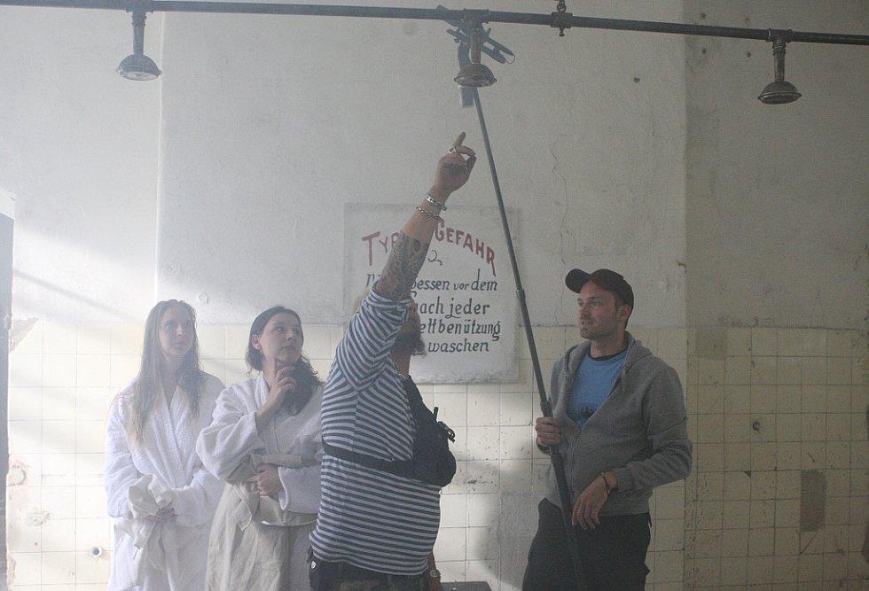 Natáčení v Terezíně.