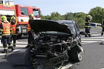 Vážná dopravní nehoda u Třebenic.