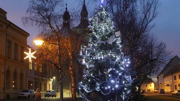 Vánoční strom v Třebenicích