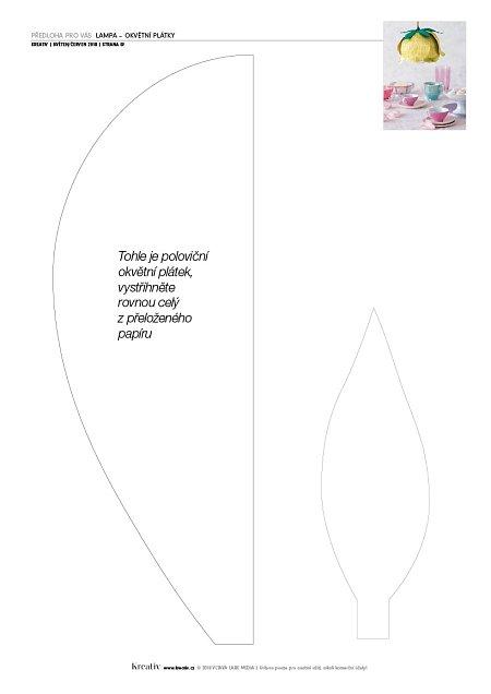 předloha Lampa - okvětní plátky