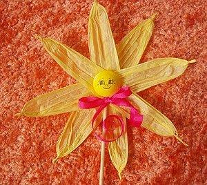 Sluníčko – zápich do květináče