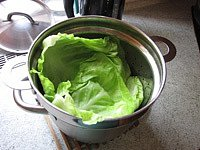 Pečené zelné závitky smletým masem - Větší množství
