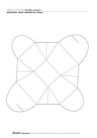 Skládaná krabička sklopami - náhled 3