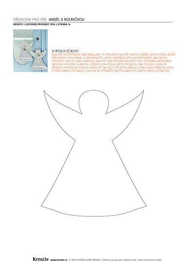 předloha Anděl srolničkou