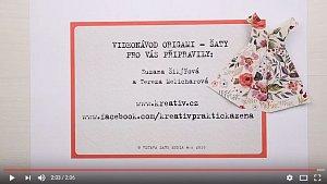 videonávod Origami šaty