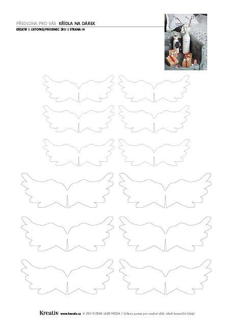 obr.předloha Křídla na dárek