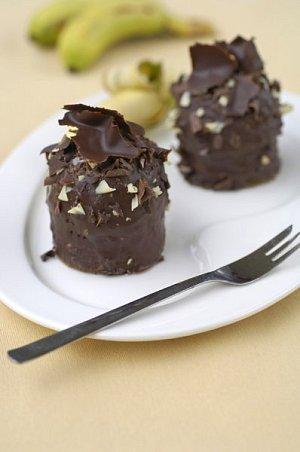 Pudinkové dortíčky polité čokoládou