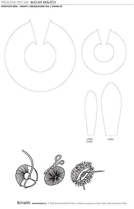 Předloha - Buclatí králíčci
