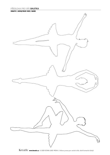 předloha baletka