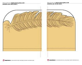 Kabelka zdobená grafikou na kůži