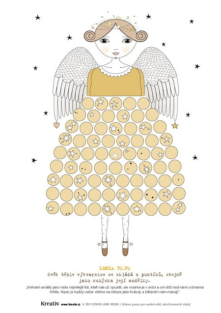 Andělé omalovánky 4