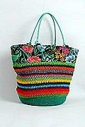 Pruhovaná háčkovaná taška