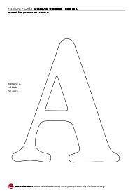 Jednoduchý scrapbook - písmeno A