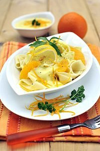 Těstoviny s citrusovou omáčkou